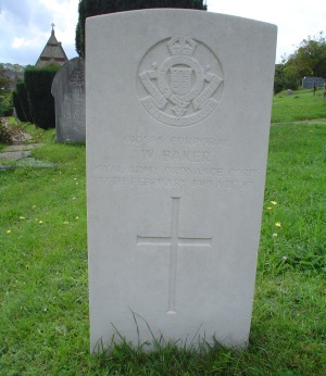 War Grave of Corporal Baker