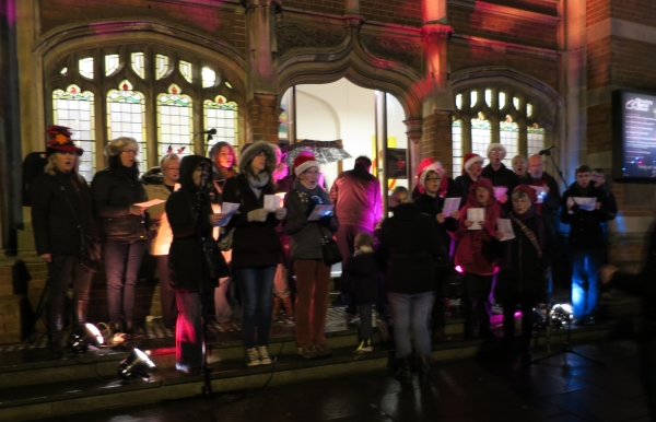 A choir performs at Christmas in Chesham