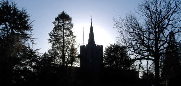 St Mary's Church in Silhouette
