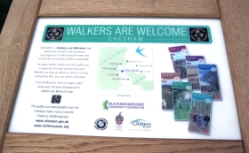Walkers Are Welcome noticeboard